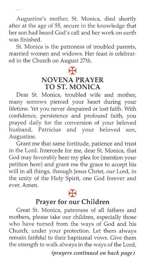 St Monica Shared Thoughts