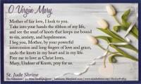 "St. Jude Shrine prayer card: ""O Virgin Mary"" - Baltimore, MD"